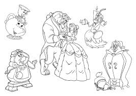 beauty beast coloring pages disney coloring pages ideas