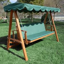 wooden swing bench 3 seater bench decoration