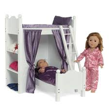 Inch Doll Furniture Bunk Bed With Shelves And Ladder Fits - Dolls bunk bed