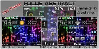 themes nokia asha 202 mobile9 focus abstract theme for nokia c3 x2 01 themereflex