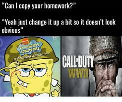 Spongebob Homework Meme - can i copy your homework yeah just change it up a bit so it doesn t