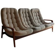 teak floating egg sofa by r huber and co mid century danish at