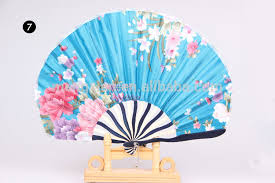 Wedding Program Hand Fans Chinese Elegant Spun Silk Hand Fan Wedding Program Fan With Bamboo