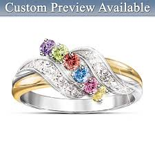 birthstone rings personalized mothers birthstone rings