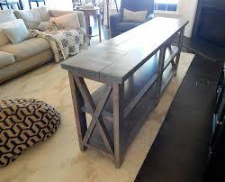 X Console Table Johnson Rustic X Console Table