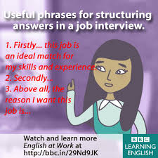 Communication Skills Phrases Useful Phrases For Structuring Answers In A Job Interview