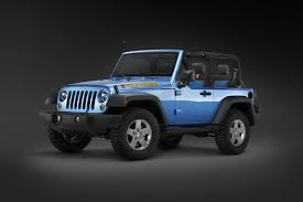 jeep blue and black jeep wrangler islander and mountain limited edition specials to