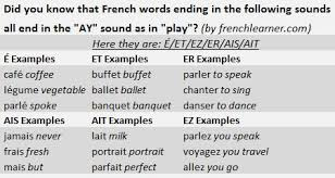 french reading tip how to say the ay sound