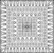 tappeto disegno disegno da colorare mondo arabo tappeto 10