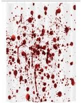 Blood Shower Curtain Cyber Monday Savings Bloody Shower Curtain Set Flowing Blood