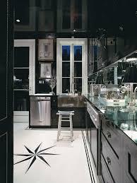 Backsplash For Black Cabinets - hickory wood black glass panel door kitchens with cabinets