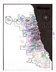 Chicago Lakeview Map by 20 Chicagoans Map Chicago Story Luck