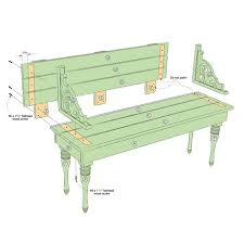 indoor or outdoor bench plan