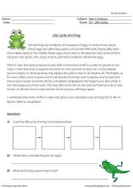 primaryleap co uk life cycle of a frog questions worksheet