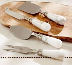 marble cheese knives set of 4 pottery barn au marble cheese knives set of 4