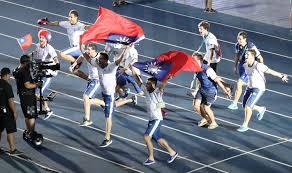 Taiwan Country Flag Argentina Athletes Carry Taiwan Flags At Universiade Closing
