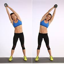 lying overhead reach tone your abs without crunches popsugar