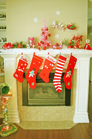 decorations beautiful fireplace christmas decoration with