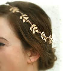 goddess headband gold leaf hair grecian headband olympus goddess