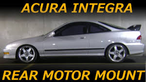 94 01 acura integra rear engine mount removal and install youtube