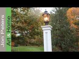 How To Make A Decorative - how to make a lamp post build a decorative column wrap youtube
