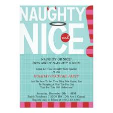 naughty or nice cards invitations greeting u0026 photo cards zazzle