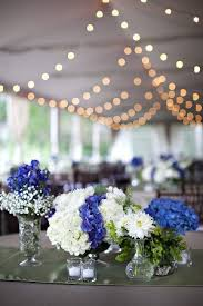 blue centerpieces west virginia wedding at the greenbrier from millie holloman