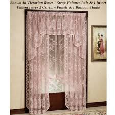 3 Panel Window Curtains Fiona Scottish Lace Window Treatment