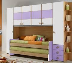 white and purple children wardrobe design for modern bedroom ideas