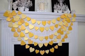 wedding garland gold wedding garland gold garland gold party decor paper