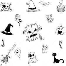 halloween doodle set simple u2014 stock vector wongsalam77 113209120