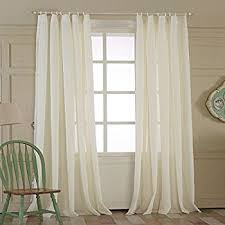 Sheer Curtains Tab Top No 918 Trevor Semi Sheer Tab Top Curtain Panel 40 X
