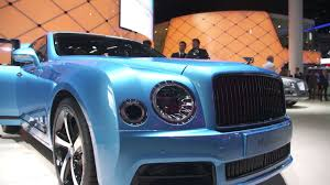 blue bentley mulsanne bentley mulsanne design series by mulliner at iaa 2017 youtube