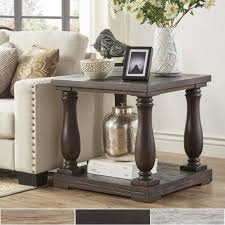 Pine End Tables Edmaire Rustic Baluster End Table By Inspire Q Artisan Free