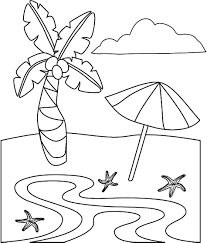 printable beach coloring page summer pages holidays themed free