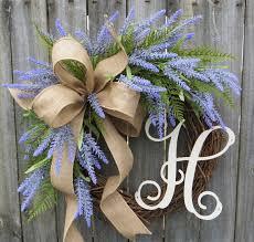 monogram wreath horn s handmade front door wreaths christmas wreaths tree