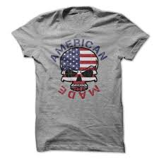 Flags Made In Usa Made Usa Patriotic Flag Skull T Shirt