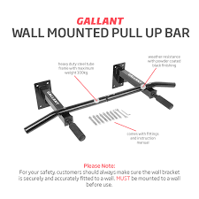 gallant wall mounted pull up bar chin chinning bracket iron home