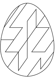 abstract easter coloring pages easter egg with abstract geometric pattern coloring page free