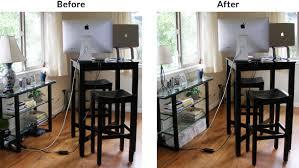 how to cable manage a desk organizing desk cords web designer developer in portland or
