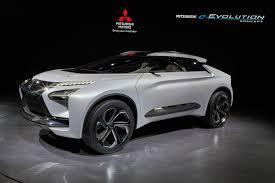mitsubishi car mitsubishi e evolution a full electirc evo crossover suv concept