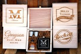 wedding gift groomsmen groomsmen gift set of 1 cigar box flask gift set personalized