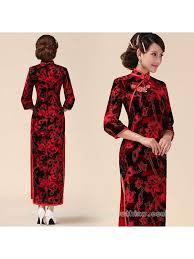 red and black oriental dress black dress pants