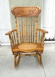 Pine Oak Furniture 19thc Pine And Oak Victorian Rocking Chair W Cane Seat At 1stdibs