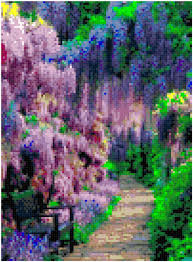 home decoration pdf cross stitch japanese garden pattern design chart outdoor nature