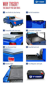 Ford Ranger Truck Bed Cover - tyger rolock low profile roll up truck bed tonneau cover for 1982