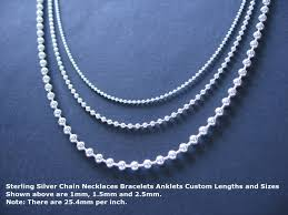 chain beaded necklace images Sterling silver bead chain necklace custom length standard jpg