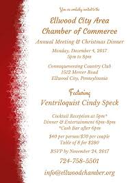 christmas cocktails invite chamber of commerce annual meeting and christmas dinner u2013 ellwood