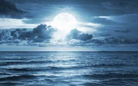 dramatic wallpaper ocean sea moonlight dramatic scene full moon beautiful nature