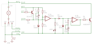 dome light dimmer with delay circuitdb